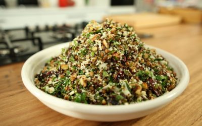 Almond, Cranberry and Cauliflower Rice Salad