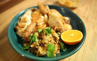Apricot and Parsley Couscous Stuffed Chicken