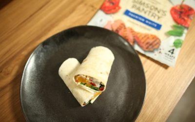 BBQ Chicken, Pumpkin and Couscous Wraps