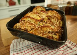 Bacon and Egg Savoury Bread and Butter Pudding recipe - The Cooks Pantry