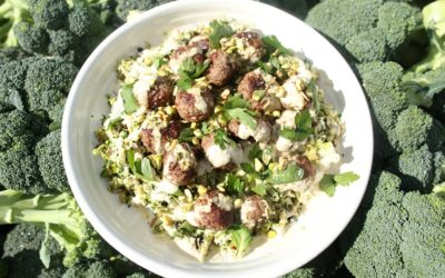 Broccoli Tabbouleh & Lamb Meatballs