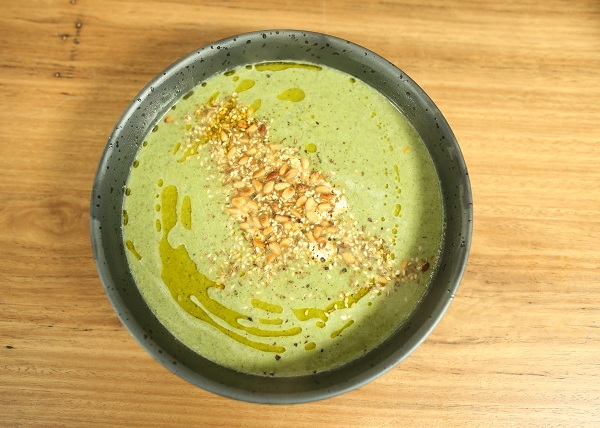 Broccoli and Chickpea Soup with Dukkah recipe - The Cook's Pantry