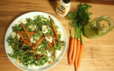 Roast Carrot Salad With Carrot Top Pesto
