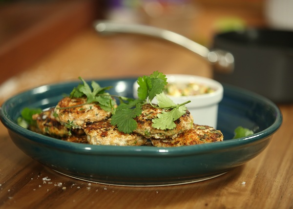 Fish Cakes with Cucumber Relish