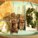 Lamb Kebabs with Tabouleh and Sesame Yoghurt recipe - The Cooks Pantry