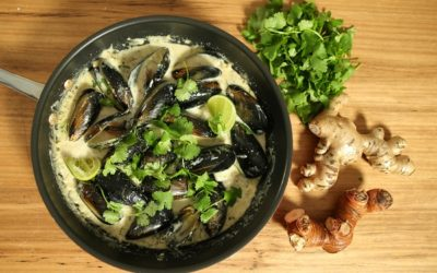 Mussels in Sri Lankan White Curry
