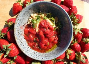 Olive oil and pepper stewed strawberries recipe - The Cooks Pantry