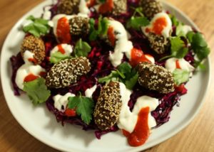 Spiced Falafel With Pickled Slaw recipe - The Cooks Pantry