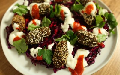 Spiced Falafel With  Pickled Slaw