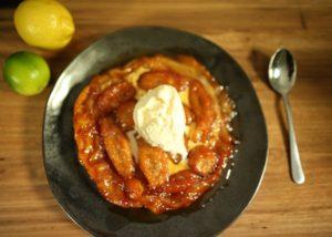 Banana _ Rum Tarte Tatin recipe - The Cooks Pantry