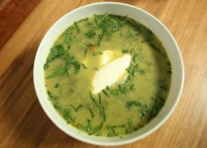 Broccoli, Chickpea _ Couscous Soup recipe - The Cooks Pantry