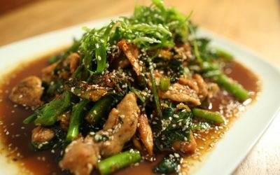 Chicken with Sesame Greens