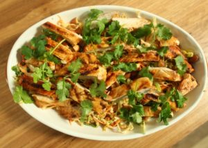 Chilli Coleslaw with grilled chicken recipe - The Cooks Pantry