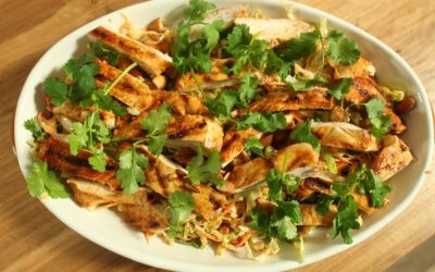 Chilli Coleslaw with Grilled chicken