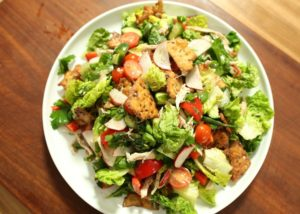 Fattoush with chicken _ sumac recipe - The Cooks Pantry