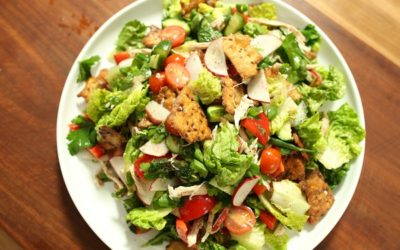 Fattoush & Chicken Salad