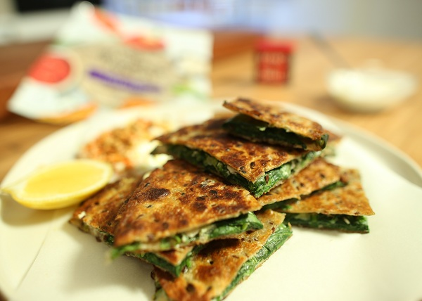 Herb _ Feta Flatbreads recipe - The Cooks Pantry