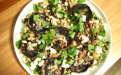 Roast Mushroom Cous Cous Salad