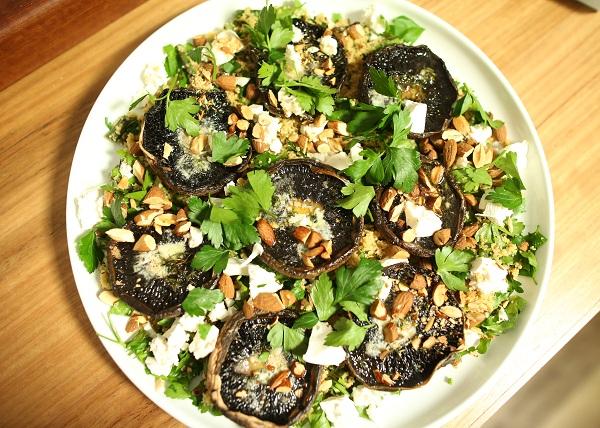 Roast Mushroom Couscous Salad recipe - The Cooks Pantry