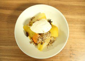 Saffron Poached Pears _ Dukkah recipe - The Cooks Pantry
