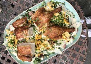 Smoked Chicken with Potato Salad recipe - The Cooks Pantry