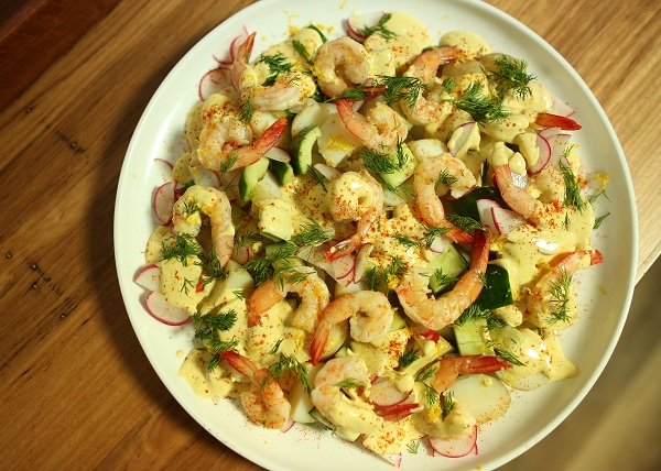 Spicy Prawn and Potato Salad recipe - The Cooks Pantry