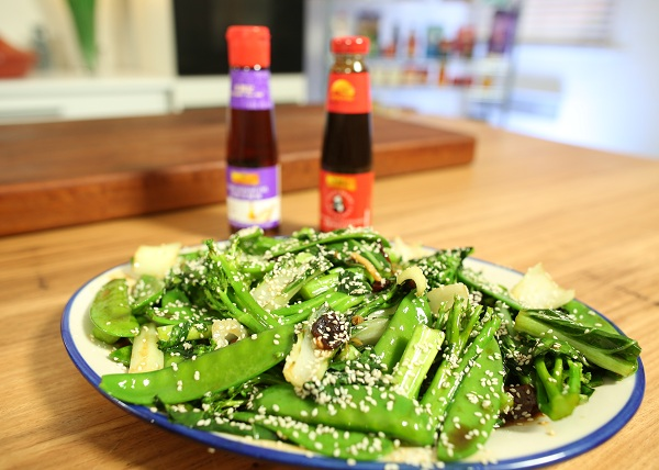 1278 Greens with Oyster Sauce recipe - The Cooks Pantry