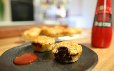 Aussie Beef and Bacon Party Pies