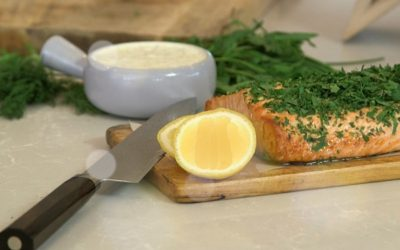 Baked Salmon with Fine Herbs