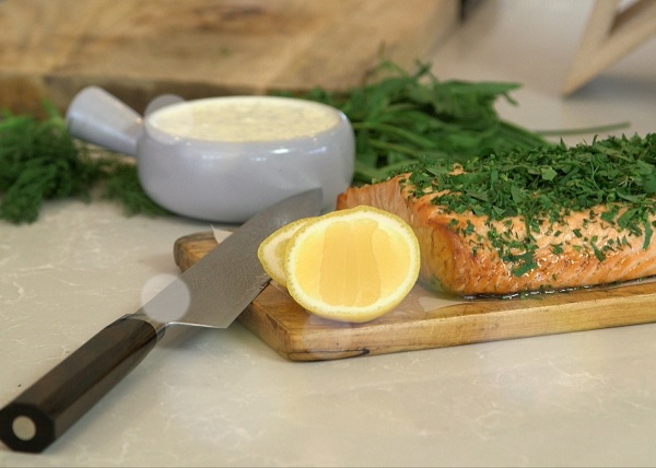 Baked Salmon with fine herbs recipe - The Cooks Pantry