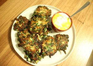 Cauliflower, Silverbeet _ Ricotta Fritters recipe - The Cooks Pantry