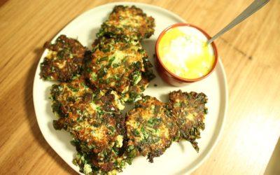Cauliflower, Silverbeet & Ricotta Fritters