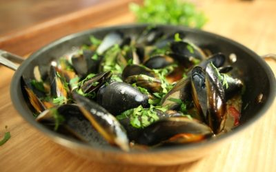 Champagne Mussels