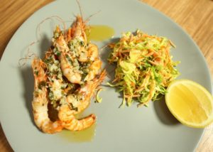 Chargrilled Prawns WITH SLAW recipe - The Cooks Pantry