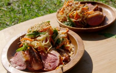 Duck Breast with Green Mango Slaw