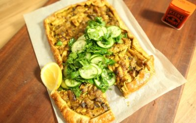 Curry Chicken Free-form Pie