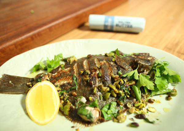 Grilled fish with brown butter sauce recipe - The Cooks Pantry