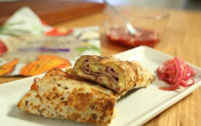 Ham, Cheese and Onion Roll-Up