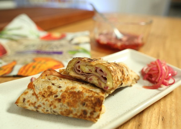 Ham, Cheese and Pickle Roll Up recipe - The Cooks Pantry