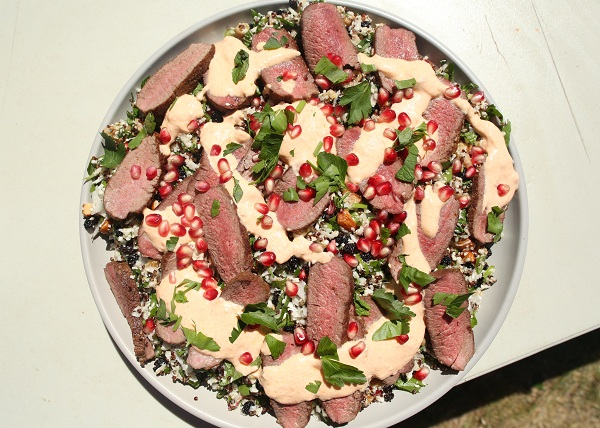 Lamb with Pomegranate Salad recipe - The Cooks Pantry