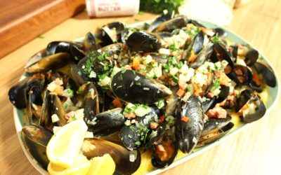Mussels with Chorizo & Wine