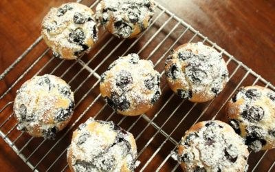 Olive Oil and Blueberry Muffins