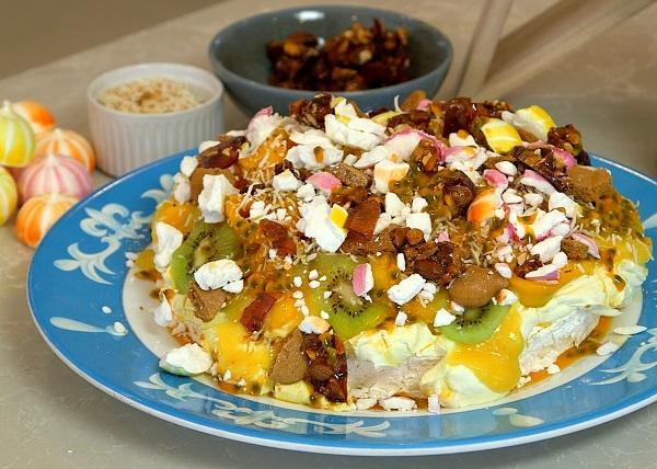 Passionfruit mango Pav recipe - The Cooks Pantry