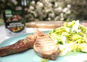 Pork Cutlet with Apple Slaw and Mustard Dressing recipe - The Cooks Pantry