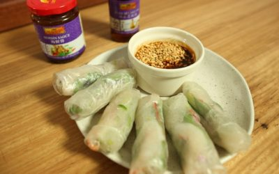 Prawn Rice Paper Rolls with Hoisin Sauce