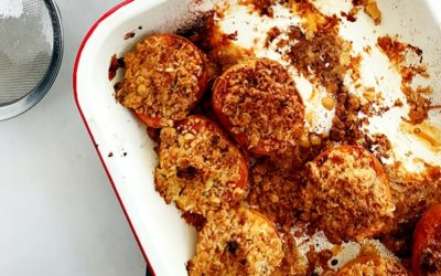 Peaches with Coconut Crumble