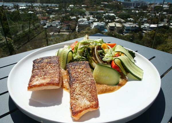 Seared Salmon with Sesame dressing recipe - The Cooks Pantry