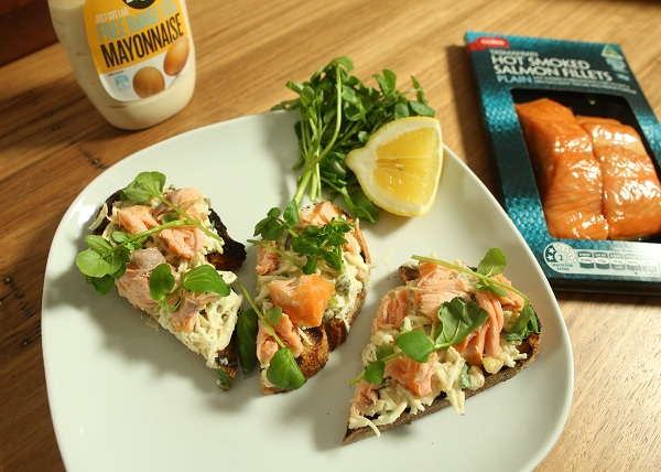Smoked Salmon, Creme Fresh _ Capers dip recipe - The Cooks Pantry
