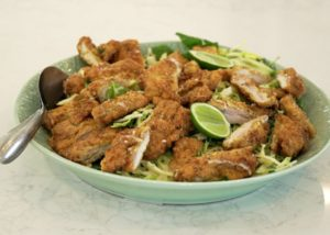 Superfood Chicken Schnitzel w Apple _ Kale Slaw recipe - The Cooks Pantry