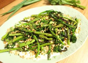 Char grilled asparagus and spring salad recipe - The Cooks Pantry